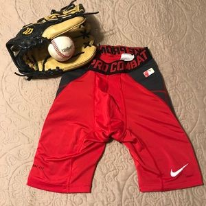 Boys Nike pro combat  dri-fit sliding shorts .